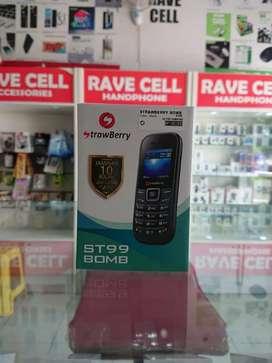 STRAWBERRY ST99 Bomb Dual SIM Card Garansi 1 Tahun (Rave Cell Sako)
