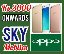 OPPO 4G MOBILES Rs.4OOO onwards Cheap Price Sale At, SKY MOBILES