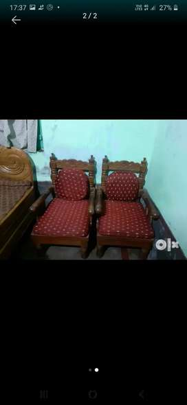 Sofa set with tea table also with full cover set