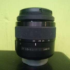 Lensa kit SONY 18-55mm SAM2 mulus dan lancar