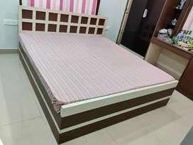 King size storage Bed with Kurlon Ortho Mattress