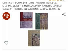 Old NCERT text books for  history class12 and 11