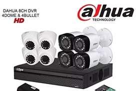 Paket komplit 8 camera cctv Dahua 2 Mp include pemasangan.