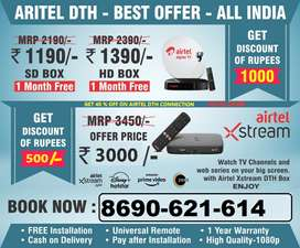 Book New Airtel Dth Settop Box Lowest Price HD SD Smart Box All India
