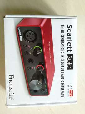 Dijual Audio interface focusrite Scarlett solo third generation
