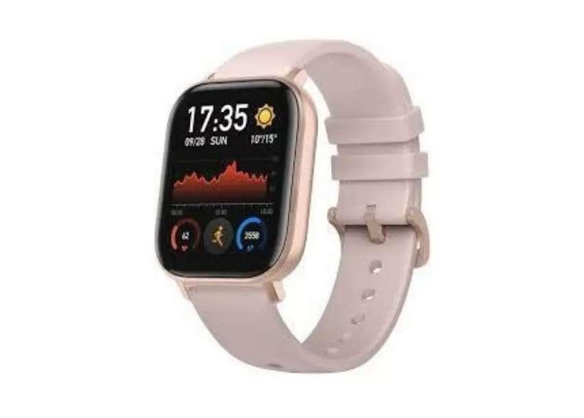 Smartwatch xiaomi amazfit GTS Pink, baru, segel Dan garansi resmi Indo 0