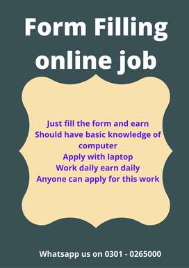 Work and earn pocket money from online Form Filling online job