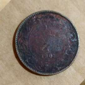 Old antique coin of 1905 EDWARDS VI