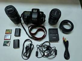 Canon 7D with 18-135 and telephoto lens 70-300mm