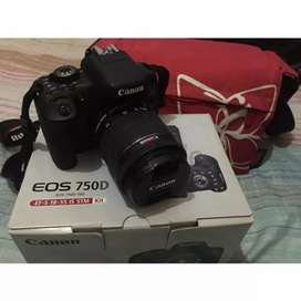 Cannon DSLR 750D Camera available for sale