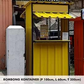 Rombong / Booth container bukan kayu palet