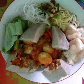 (Bakso & Mie Ayam Beranak Mercon + telur puyuh)