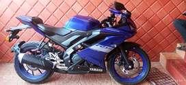 Yamaha R15 V3 bs6 racing blue 2021 model