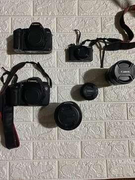 Jual borongan 3 kamera dan 4 lensa