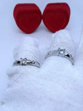 Cincin wanita silver two twinkling stars