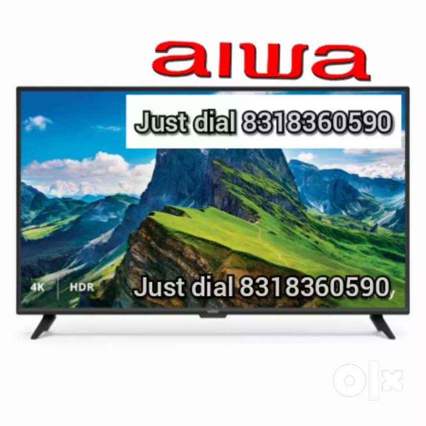 New Aiwa 55 inch ledtv 4k  android smart 2 year warranty bill 0