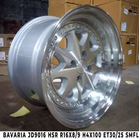 velg racing gaya static BAVARIA JD9016 HSR R16X8/9 H4x100 ET30/25 SMF