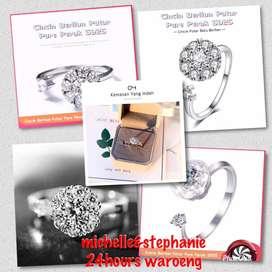 S925 Pure Silver Twist Diamond Ring