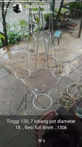 Rak pot tanaman Isi 7 pot diameter 18cm