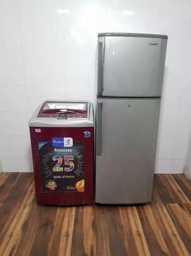 Samsung double door hcvvg and topload washing machine//