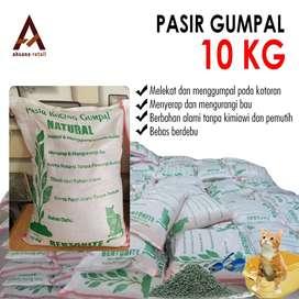 pasir kucing gumpal natural 10kg