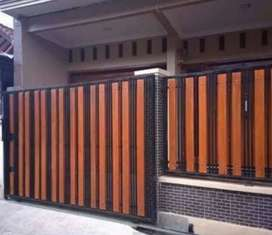 Pagar grc motif kayu *5667