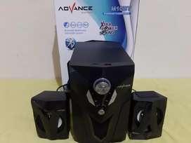Speaker woofer bluetooth advance m10bt, usb, sd card, fm baru
