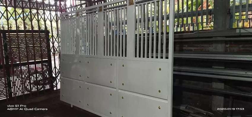 pagar minimalis,kanopi spandex.dan pintu harmonika.