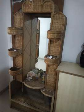 Pure Cane full length dressing table