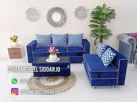 Sofa minimalis L bolak balik haissen blue