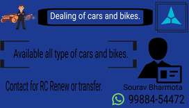 Available All types of bikes and cars.
