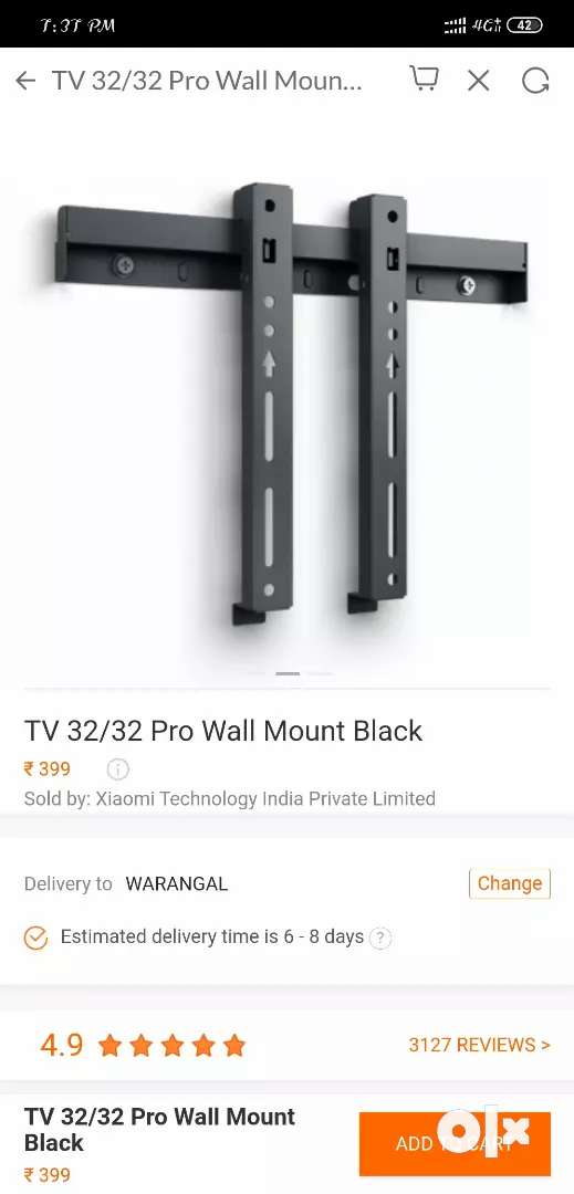 Mi 4a 32 inch pro wall mount stand 0