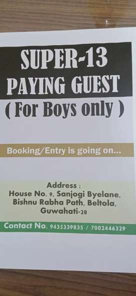 SUPER-13 PAYING GUEST (For Boys and Working Professional only)