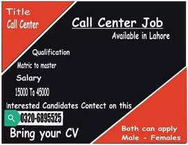 Call center jobs available