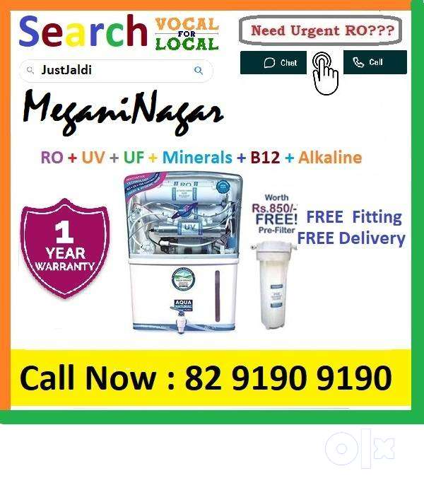 MeganiNagar1 AquaGrand RO Water Purifier Water Filter AC dth bed car A