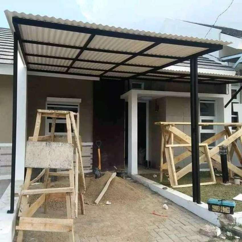 @07 canopy minimalis rangka tunggal atapnya alderon pvc bikin nyaman