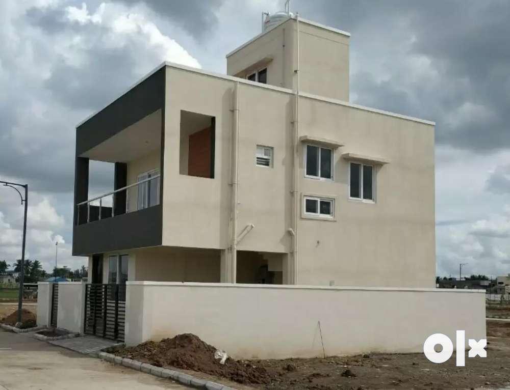 872 sqft 2 bhk individual house sale west tambaram, bud 39 laks..