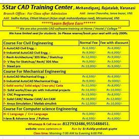 AutoCAD training, Solid Works, 3DS max, CNC programming
