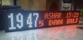 Jam digital sholat 1mx 20 cm