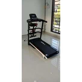 Alat Fitness Gym Treadmill Elektrik Medium Fitur Lengkap Bisa COD