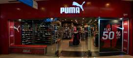 Sales boys and sales girls are required in Puma Store for fresher