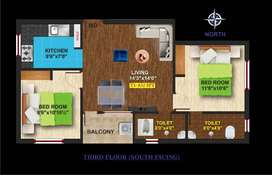 1BHK Flats for Sale at Iyyappa Nagar Pammal with Lift and 24/7 power