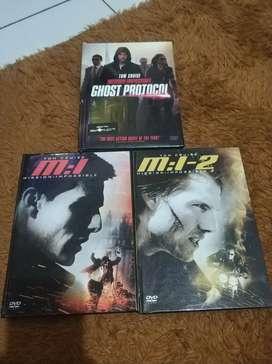Sepaket dvd original mission imposible (mi 1,2,ghost protocol)