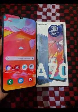 Samsung A70 6/128 GB mulus lengkap