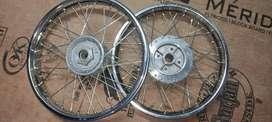 Royal enfield classic 350 steel wheels