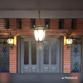 Lampu dinding gantung teras klasik antik minimalis