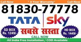26% off- Airtel Tata Sky DTH D2H DishTV - Tatasky Dish New connection