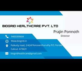 We are hiring Sales excecutive for BIOGRID Healthcare PVT LTD