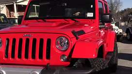 Red jeep wrangler jk Ext modification