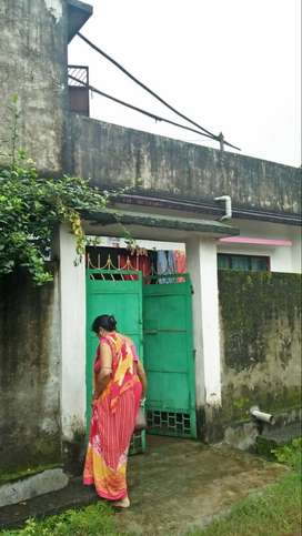 A house with front side rcc Assam type fully under rcc boundaries.